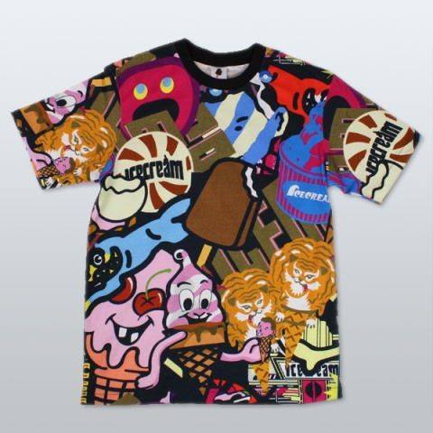 ICECREAM-Logo-Mash-T-Shirt-Multi-1