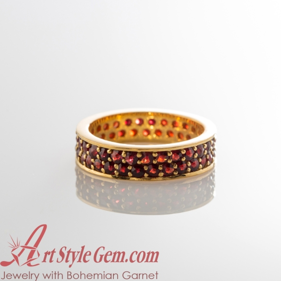Edgy_Chic_Beauty__925_Silver_Ring_with_Bohemian_Garnets_Gold_Plated